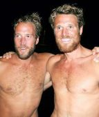 NAKED trans-Atlantic rowers James Cracknell and Ben Fogle have enjoyed